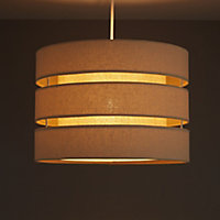 Colours Trio Cream 3 tier Light shade (D)350mm
