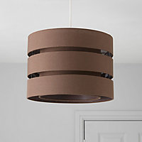 Colours Trio Brown 3 tier Light shade (D)350mm