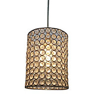Colours Clear Crystal effect Beaded Light shade (D)160mm