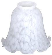 White Flakestone design Light shade (D)142mm