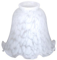 White Flakestone design Light shade (D)142mm