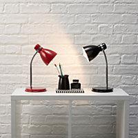 Shelley Red CFL Desk lamp