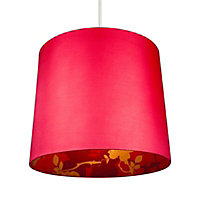 Colours Constance Red Linen effect Inner print Light shade (D)300mm