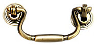 B&Q Brass effect Drop Furniture pull handle, Pack of 1
