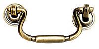 Brass effect Zinc alloy Bow Drop Cabinet Pull handle
