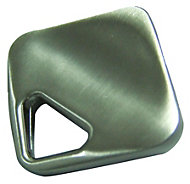 B&Q Satin Nickel effect Square Furniture knob, Pack of 1
