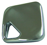 B&Q Polished Chrome effect Square Furniture knob, Pack of 1