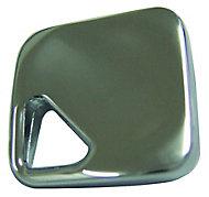 Chrome effect Zinc alloy Square Diamond Furniture Knob