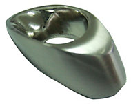 B&Q Satin Nickel effect Oval Furniture knob, Pack of 1