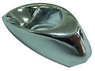 B&Q Polished Chrome effect Oval Furniture knob, Pack of 1