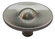 B&Q Satin Nickel effect Round Furniture knob, Pack of 1