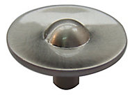 Nickel effect Zinc alloy Round Furniture Knob