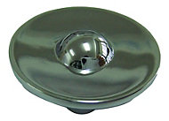 B&Q Polished Chrome effect Round Furniture knob, Pack of 1