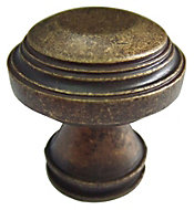 B&Q Bronze effect Round Furniture knob, Pack of 1