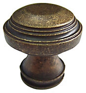 Bronze effect Zinc alloy Round Furniture Knob