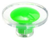 B&Q Green Round Furniture knob, Pack of 1