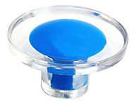 B&Q Blue Round Furniture knob, Pack of 1