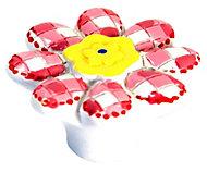 B&Q Multicolour Flower Furniture knob, Pack of 1