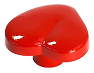 Red Plastic Heart Furniture Knob