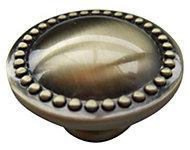 B&Q Brass effect Round Furniture knob, Pack of 1