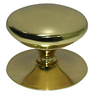 B&Q Brass effect Round Furniture knob, Pack of 1