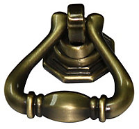 B&Q Brass effect Furniture knob, Pack of 1