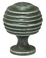 Cooke & Lewis Pewter effect Zinc alloy Round Cabinet Knob (Dia)29.8mm