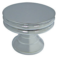 Cooke & Lewis Chrome effect Round Furniture knob, Pack of 1