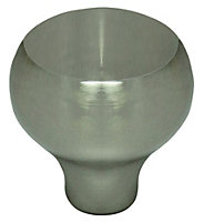 B&Q Satin Nickel effect Round Furniture knob, Pack of 1