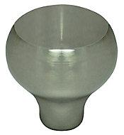 Nickel effect Zinc alloy Round Furniture Knob (Dia)30mm