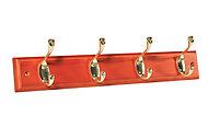 Antique brass effect & Hook rail, (L)458mm (H)15mm