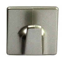 B&Q Silver effect ABS Robe hook, Pack of 2