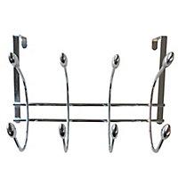 Over door Chrome effect & Acorn Hook rail, (L)375mm (H)230mm