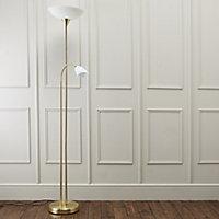 Carpio Gold effect Incandescent Floor lamp