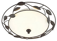 Cloe Brushed Brown Bronze effect 2 Lamp Ceiling light