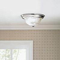 Sudbury Brushed Chrome effect Ceiling light