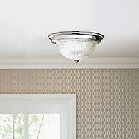 Sudbury Brushed Chrome effect Ceiling light