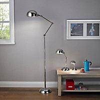 Simone Pharmacy Polished Iron effect Table lamp