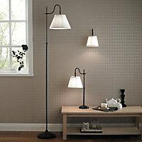 Rosie Black Iron effect Table lamp