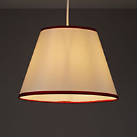 Colours Gemma Cream & red Ribbon Light shade (D)122mm