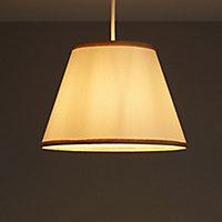 Colours Gemma Gold effect Ribbon Light shade (D)102mm