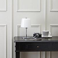 Daria Chrome effect Incandescent Table lamp