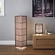 Joyce Dark brown Incandescent Table lamp
