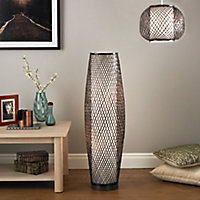 Joyce Chocolate Incandescent Floor lamp