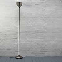 Lena Gunmetal grey Incandescent Floor lamp