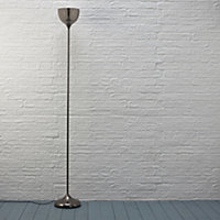 Lena Gunmetal grey Incandescent Floor lamp
