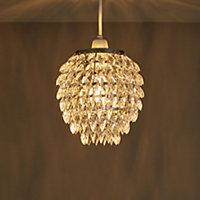 Becca Clear Crystal effect Beaded Light shade (D)170mm