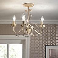 Eva Brushed Cream 3 Lamp Ceiling light