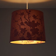 Colours Constance Purple Linen effect Inner print Light shade (D)122mm