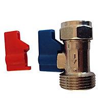 Plumbsure Compression Washing machine tap (Dia)15mm